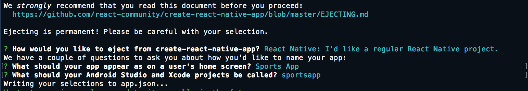 react-native-eject-output